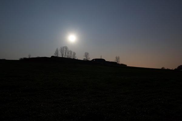 Nigh Silhouette of Mala Skalka Rock
