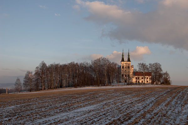 Church of St. John Nepomucene between Krahulčí and Telč