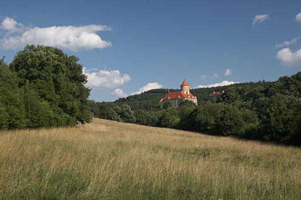Castle Veveří from Junácká louka